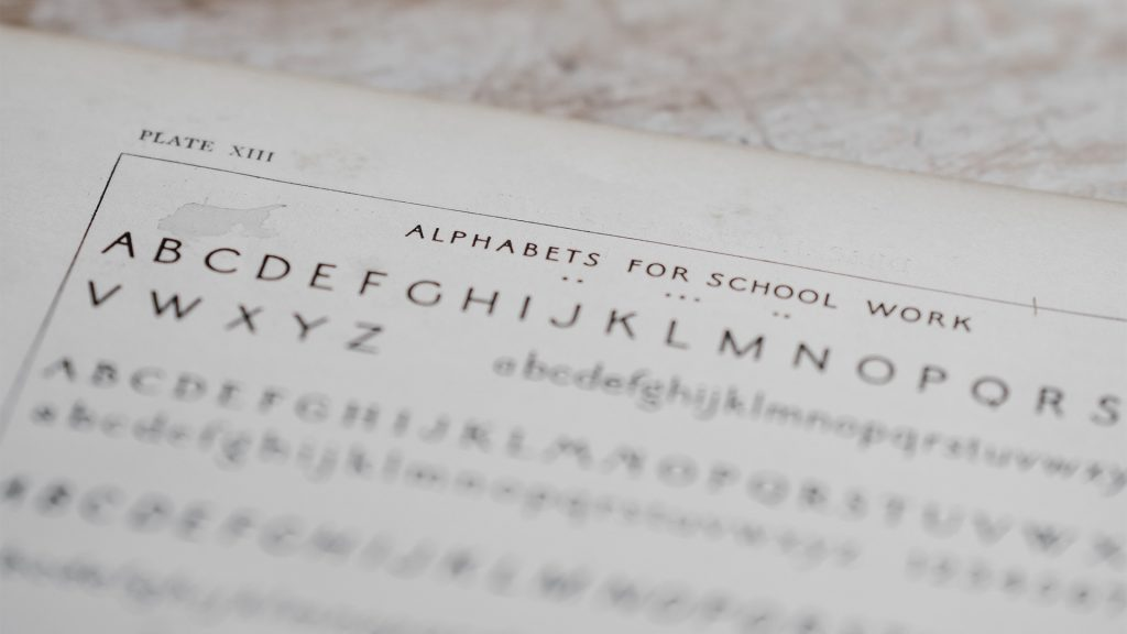 Alphabets for schoolwork