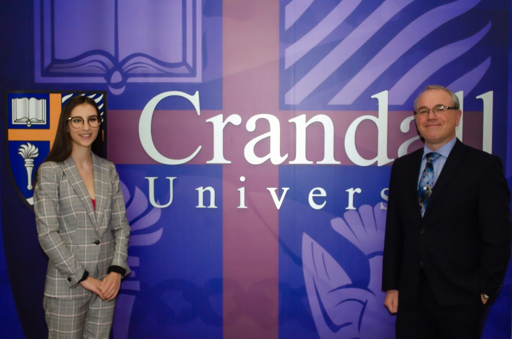 Prof. Robert MacDonald with Emilie Williams