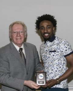 Brandon Fields Receiving ACAA Defending Player of the Year Award