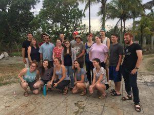 team photo in Cuba
