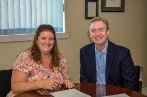 Stephanie Jackson and Dr. Bruce Fawcett