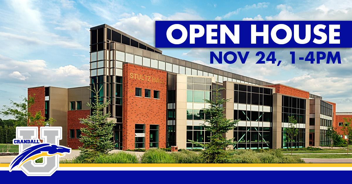 Open House: November 24, 1pm-4pm