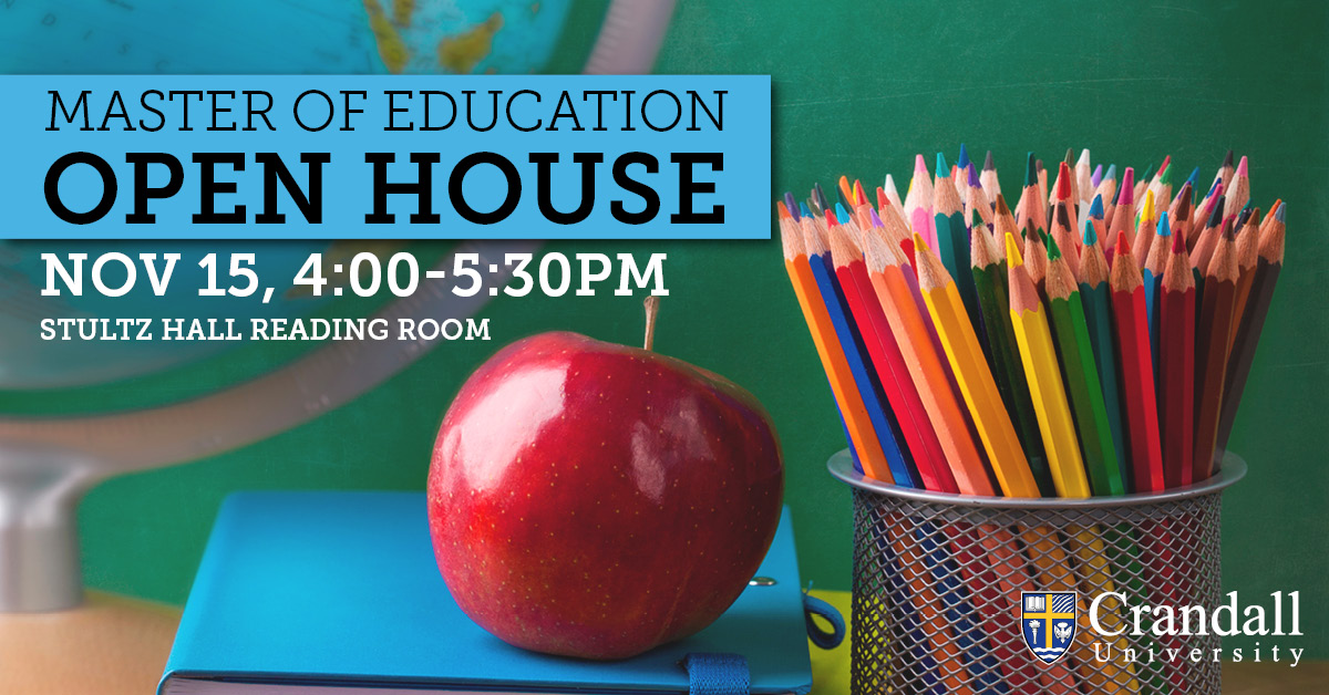 Master of Education Open House, November 15 at 4pm