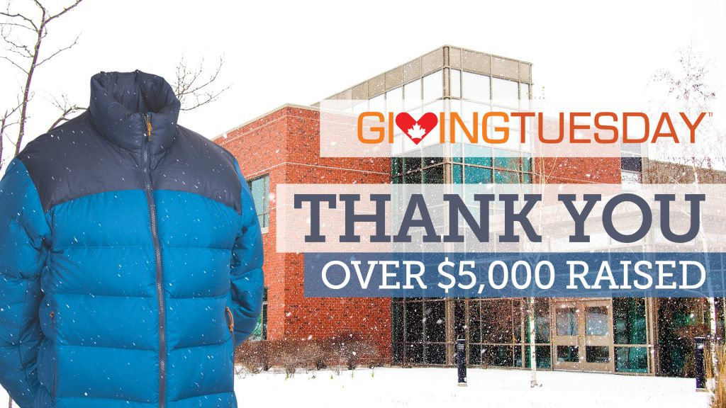 Giving Tuesday - over $5,000 raised. Thank You!