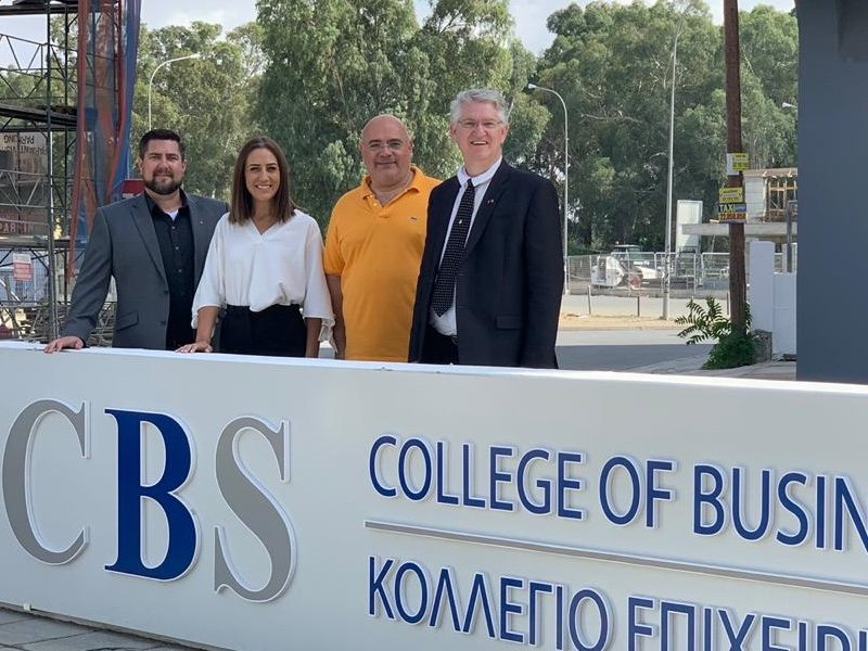 CU and CBS representatives at CBS campus in Cyprus